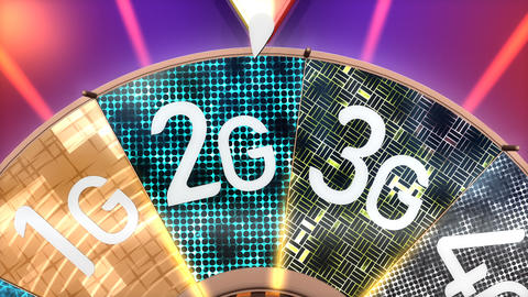 5G, 5th generation cellular mobile communication technology Animation