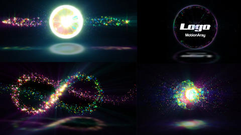 Particle Explosion Logo Reveal After Effects Template