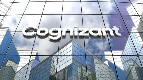 Editorial, Cognizant Technology Solutions Corporation logo on glass building Animation