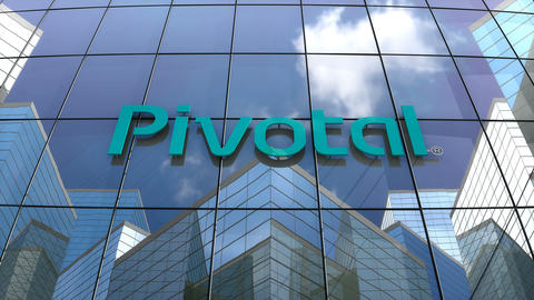 Editorial, Pivotal Software Inc. logo on glass building Animation