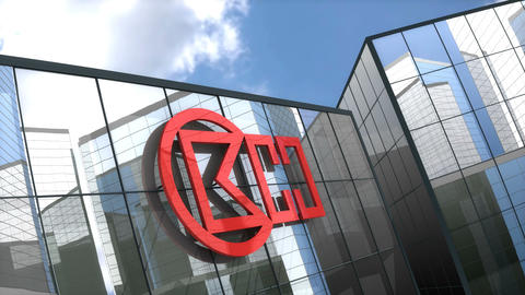 Editorial, CK Hutchison Holdings Limited logo on glass building Live Action