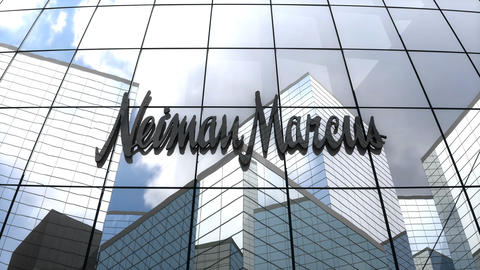 Editorial Neiman Marcus Group, Inc. logo on glass building Animation