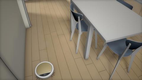 Robotic vacuum cleaner, automation Animation