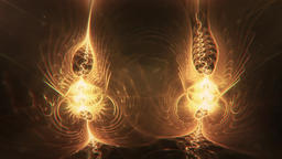 Spirit Energy Twin Beings Slowly Morphing and Glowing Animation