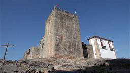 Belmonte castle Portugal, slider shot Footage