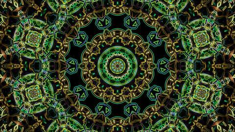 Looping neon kaleidoscope Stock Video Footage