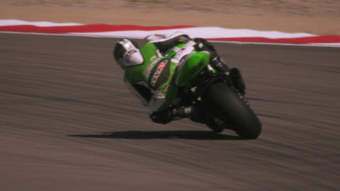 Slow motion footage of motorcycle race Footage