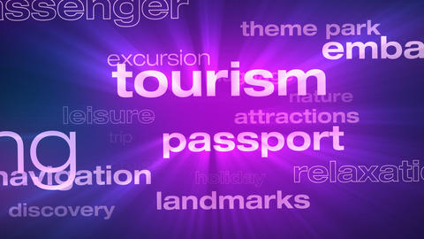 Travel and Vacation Words Loop Animation