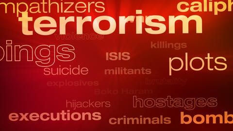Terrorism Words Loop Animation
