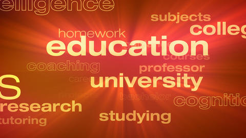 Education and Schooling Words Loop Animation