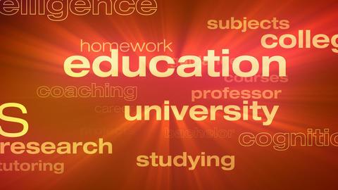 Education and Schooling Words Loop Animación