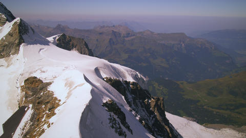 Tilting shot on the peak of the Swiss alps Footage