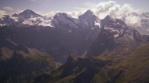Static shot of the Alpine summit in Switzerland Footage