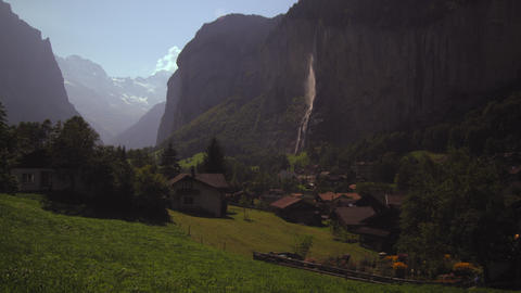 Static shot of a small village in Switzerland Footage