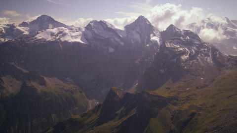 Shot of the majestic Swiss alps Footage