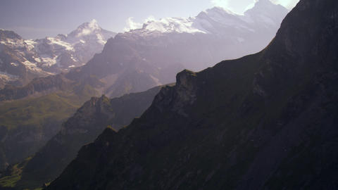 Ascending the Swiss alps Footage