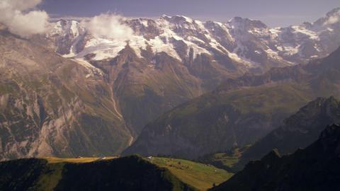 Dolly shot of the alpine mountain range Footage