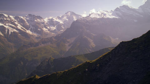 Ascending dolly shot of the beautiful Swiss alps Footage