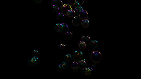 Blowing soap bubbles with separate alpha GIF