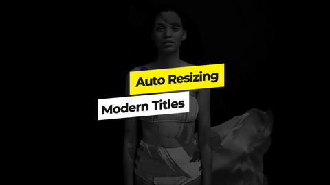Auto Resizing Titles After Effects Template