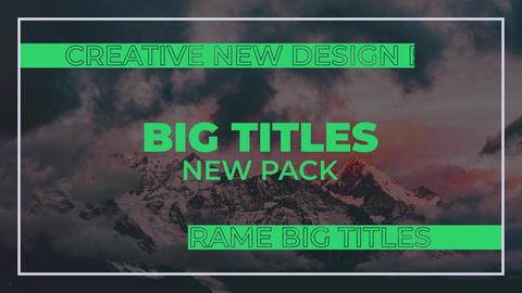Big Titles Plantilla de After Effects
