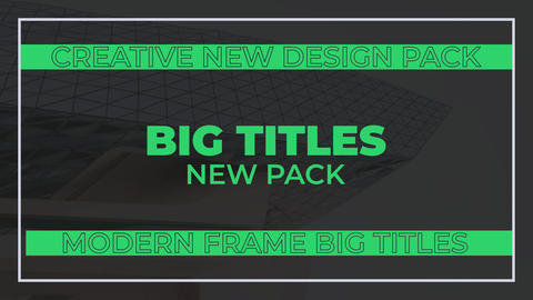 Big Titles Motion Graphics Template