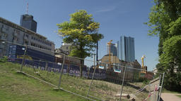 Sunny Summer Day and Residential Construction Site Archivo