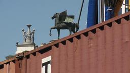 Pegasus Statue Near Construction Site Footage