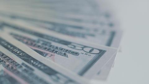 Fifty Dollar Bills Stock Video Footage