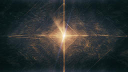 Sacred Geometry - Nested Octahedron in Yellow Gold Rotating in Meditative Space Animation