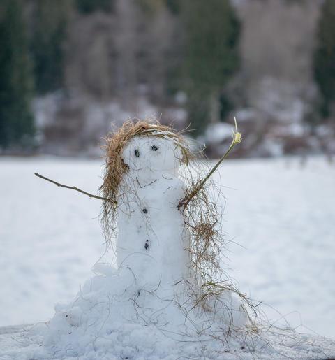 little snowman Fotografía