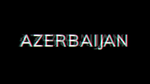 From the Glitch effect arises country name AZERBAIJAN. Then the TV turns off. Alpha channel Animation