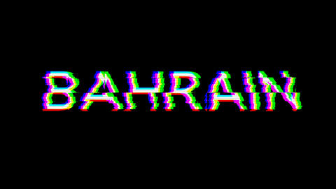 From the Glitch effect arises country name BAHRAIN. Then the TV turns off. Alpha channel Animation