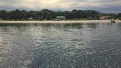 Aerial footage of Gili Meno Island in Indonesia Archivo