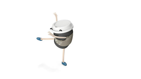 Hot coffee cup dance Animation