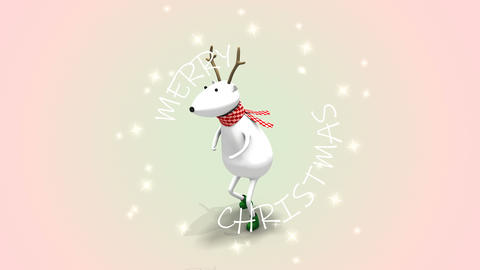 Christmas deer funny dancing Live Action