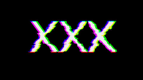 From the Glitch effect arises Roman numerals XXX. Then the TV turns off. Alpha channel Premultiplied Animation