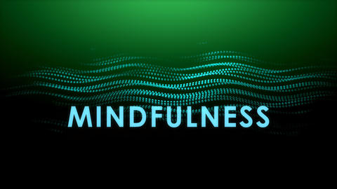 Graphic animation text, Mindfulness Animation