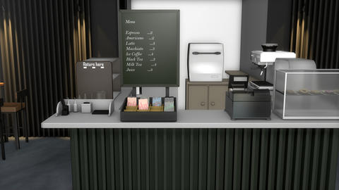 Small cafe, coffee shop Animation