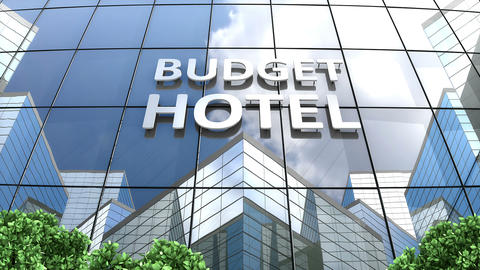 A budget hotel building Animation