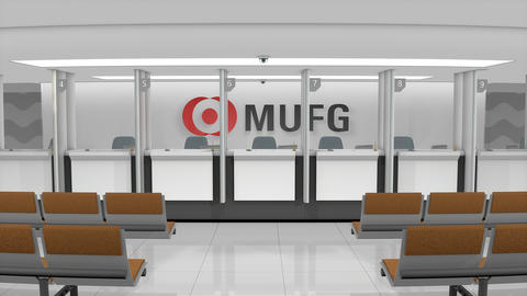 Editorial MUFG Bank retail counter Footage