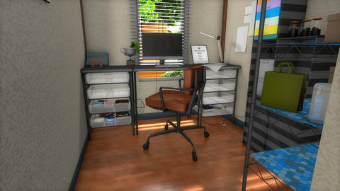 Workstation in an apartment Animation