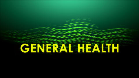 Graphic animation text, General Health Footage
