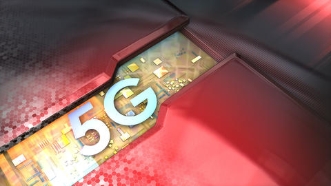 5G technology animation Live Action