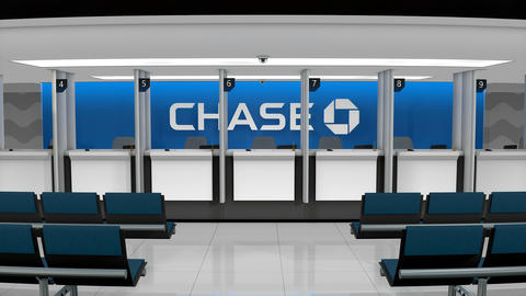 Editorial Chase service counter Footage
