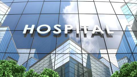 Hospital building cloud timelapse Animation