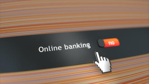 Application setting Online banking Stock Video Footage