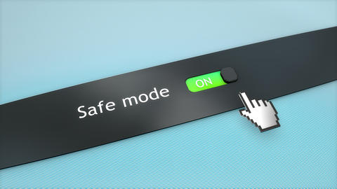Application setting Safe mode Stock Video Footage