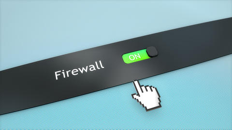 Application setting Firewall, Stock Animation