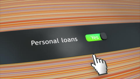 Application setting Personal loans Stock Video Footage